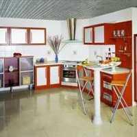 别墅橘红色厨房装修效果图