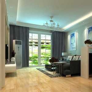简中式三居室客厅影视墙效果图