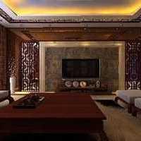 客厅落地灯电视柜茶几装修效果图