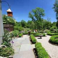 绿色怡人别墅庭院地面装修效果图