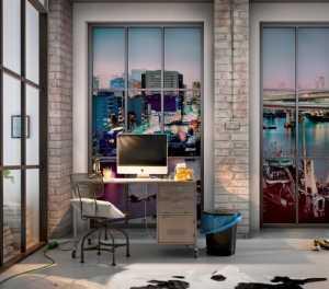 床上用品复地东湖国际田园风格三居室效果图