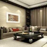 現代簡約客廳背景墻三居裝修效果圖