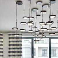 复式楼客厅吊顶大户型美式装修效果图