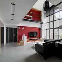 现代纯白色窗帘别墅起居室装修效果图