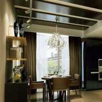 三居简约中式餐厅吊顶餐厅装修效果图