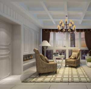 現代美式四居室客廳沙發效果圖