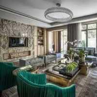 东南亚一居室40平米客厅装修效果图