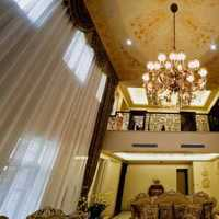 三室两厅两卫英伦客厅吊顶装修效果图