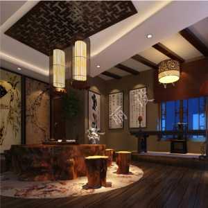 古典中式 时尚大气休闲区效果图