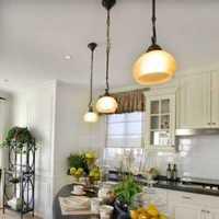 新古典别墅不锈钢厨具厨房装修效果图