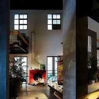 美式头灯壁纸复式楼装修效果图