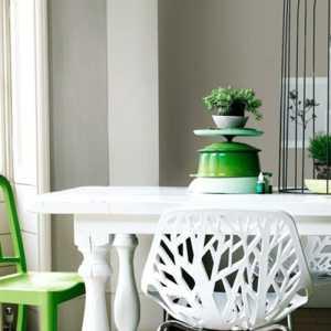 70㎡小户型绿色宁谧的餐厅装修效果图大全2012图片