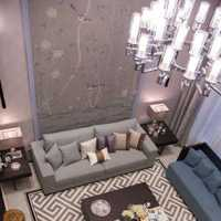 吊灯客厅沙发背景墙三居装修效果图