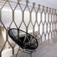 卧室窗帘简约双人实木家具装修效果图
