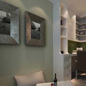 嫩绿+白色 小清新书房休闲区
