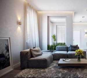 舒适时尚吊顶现代简约公寓白色客厅餐厅中性色