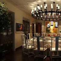 简洁四人现代四居餐厅装修效果图