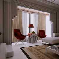 现代简约整体客厅家具摆放效果图