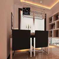 欧式大户型餐厅窗帘装修效果图