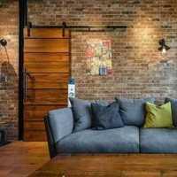 单人沙发二居客厅吊顶窗帘装修效果图