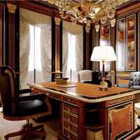 现代别墅起居室褐色窗帘装修效果图