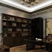 三居简约欧式书房吸顶灯装修效果图