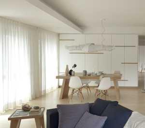 二居室现代简约公寓餐厅中性色
