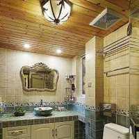 挂墙式台盆片卫生间隔断装修效果图
