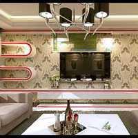 茶几电视背景墙四房客厅装修效果图