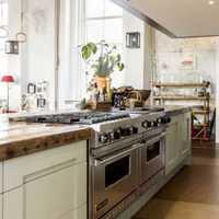 厨房白色灯具婚房装修效果图