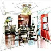 小复式色彩明朗餐厅装修效果图