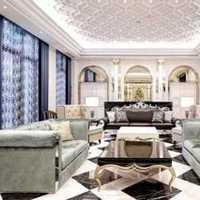 客厅吊灯现代壁纸别墅装修效果图