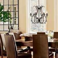 餐厅灯具60平米北欧装修效果图
