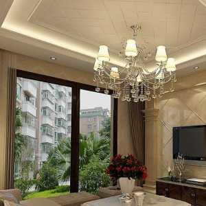 中式客廳沙發環保墻紙效果圖