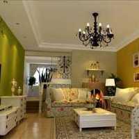 美式风格客厅拐角窗帘效果图