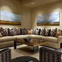 地中海客厅家具客厅二居装修效果图