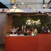 餐厅窗帘餐台地中海装修效果图