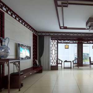 红白色系 极尽奢华的中式客厅