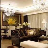 客厅吊灯二居装修效果图