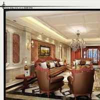 欧式风格客厅石膏板吊顶效果图