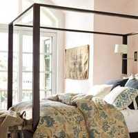 混搭灯具卧室壁纸装修效果图