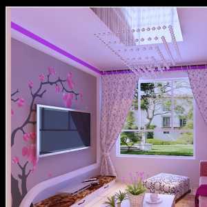 温馨的紫色,舒适的客厅