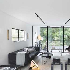 照片墻吊頂現代簡約客廳效果圖