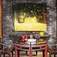 餐厅吊顶餐厅实木家具四居装修效果图