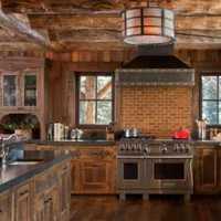 北欧小厨房吧台整体橱柜装修效果图