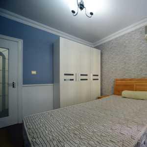 欧式卧室床背景墙装修效果图