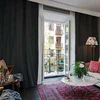 棕色复古客厅皮沙发装修效果图