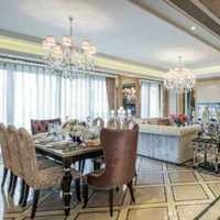 富裕型餐桌餐厅110平米装修效果图