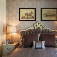 别墅卧室背景墙北欧卧室装修效果图