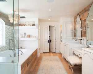 原木色的卫浴空间
